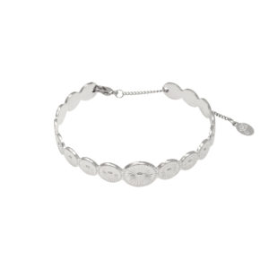 Stainless steel bangle zilver